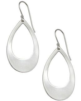 Sterling Silver Open Teardrop Pendant Earrings