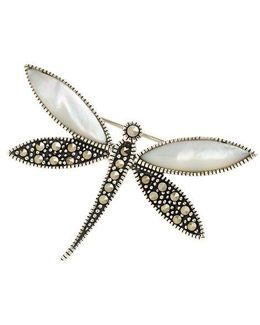 Sterling Silver And Marcasite Dragonfly Pin