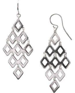Sterling Silver Diamond Link Drop Earrings