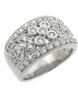 Sterling Silver Ring With Cubic Zirconia Embellishments