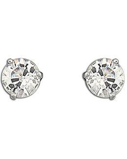 Solitaire Crystal Stud Earrings