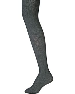 Herringbone Cable Opaque Tights