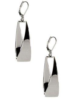 Shiny Silver-plated Hoop Earrings