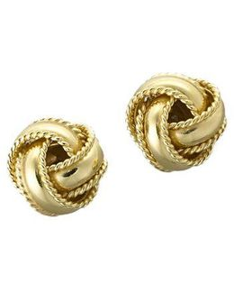 18 Kt Gold Plated Knot Stud Earrings