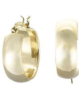 18kt Gold Over Sterling Silver Petite Hoop Earrings