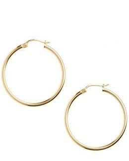 18 Kt Gold Plated Hoop Earrings