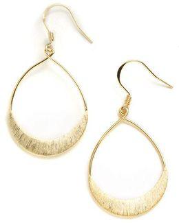 18k Gold Over Sterling Silver Teardrop Earrings