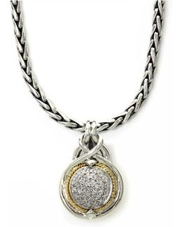 Balissima Diamond Accented Pendant In Sterling Silver With 18k Yellow Gold