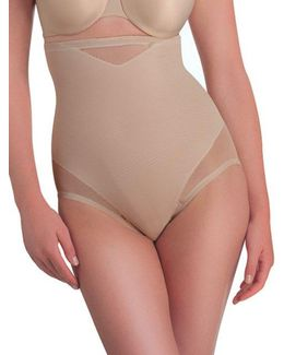 Extra Firm Control Sexy Sheer High Waist Brief
