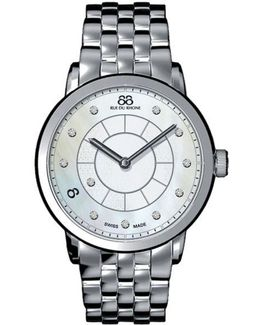 Ladies' Double 8 Origin Diamond Watch With Mother-of-pearl Dial