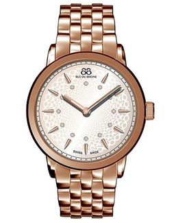Ladies Double 8 Origin Rose Gold Watch With Diamonds