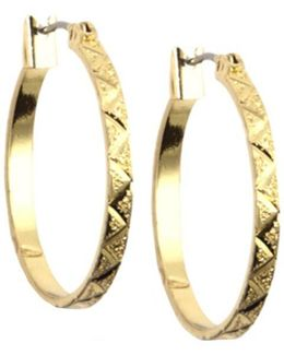 Gold-tone Small Hoop Earrings