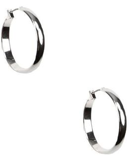 Silver-plated Hoop Earrings