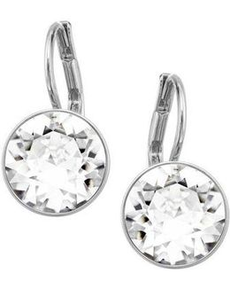 Bella Silver Tone And Crystal Mini Drop Earrings