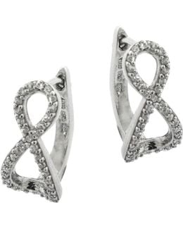 Sterling Silver And Cubic Zirconia Infinity Pendant Stud Earrings