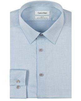 Men's Slim-fit Non-iron Performance Herringbone Dress Shirt