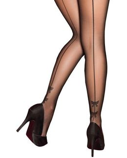 Plus Bow Backseam Tights