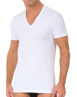 2 Pack Stretch-cotton V-neck T-shirt