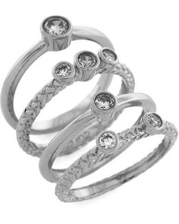 Cubic Zirconia Stacked Ring Set