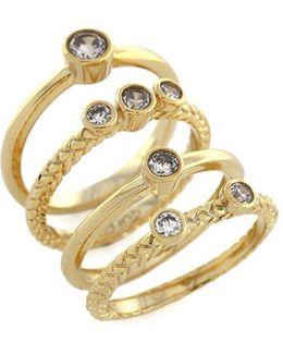 Cubic Zirconia Spiral Ring