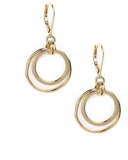 Goldtone Orbital Hoop Earrings