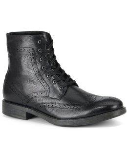 Baycliff Leather Wing-tip Boots