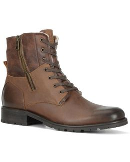Vesey Fleece-lined Leather Hiking Boots