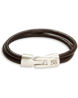 Italian Double Banded Leather Bracelet
