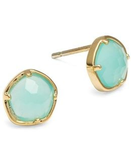 Turquoise Stone Stud Earrings