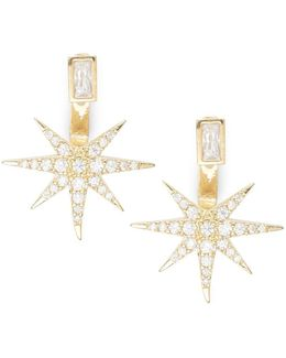 Starburst Stud And Ear Jacket Earrings Set
