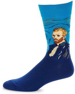 Vangogh Portrait Socks