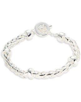 Braided Chain Toggle Bracelet