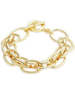 Double Chainlink Toggle Bracelet