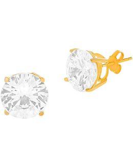 18k Yellow Goldplated Cubic Zirconia Stud Earrings
