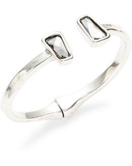 Rhinestone-accented Bangle Bracelet
