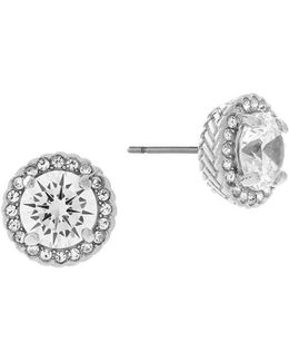 Crowns Of Light Round Cubic Zirconia Stud Earrings