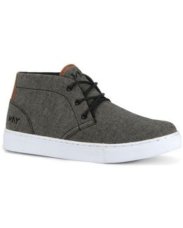 Wythe Mid Top Canvas Lace-up Sneakers