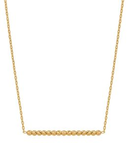 14k Yellow Gold Bar & Link Chain Necklace