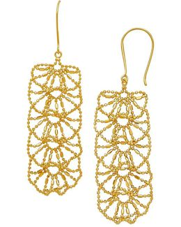 14k Yellow-gold Ball-&-bar Drop Earrings