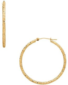 14k Gold Hoop Earrings- 1.45in