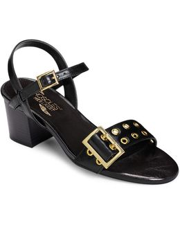 Midtown Faux Leather Ankle-strap Sandals