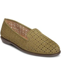 Cutwork Leather Loafers