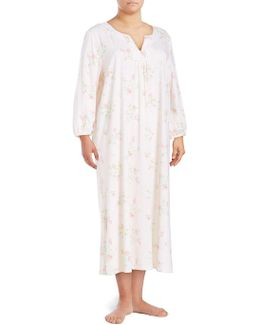 Cotton Floral Nightgown
