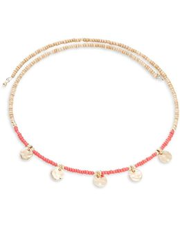Charm Accented Beaded Necklace