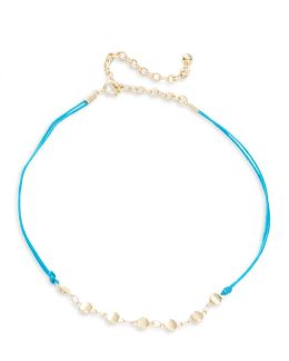 Double Corded Chain-accented Choker Necklace