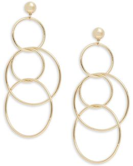 Multiple Drop Hoop Earrings