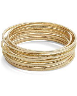 Textured Goldtone Bangle Bracelets