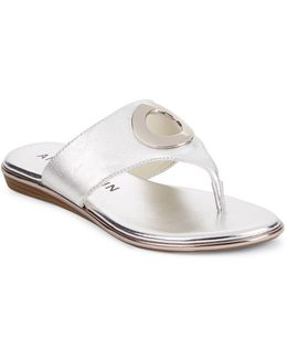 Gia Leather Thong Sandals