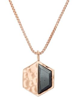 Nes Jewelry Hexagon Pendant Necklace