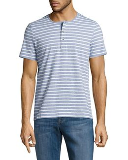 Striped Henley Tee